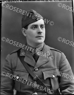 1916 Royal Flying Corps - 2nd Lt J Wingate - original  glass negative 22 by 16cm