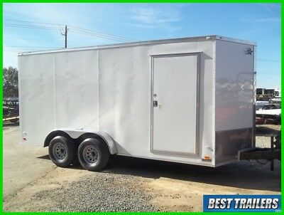 7 x 16 HD 10k New enclosed constrution trailer 7 ft tall extra height cargo 2019