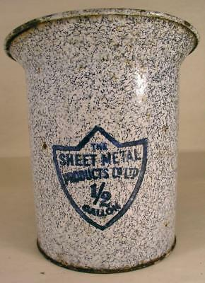 Vintage 1/2 Gallon Graniteware Pitcher Marked The Sheet Metal Products Co.Ltd.