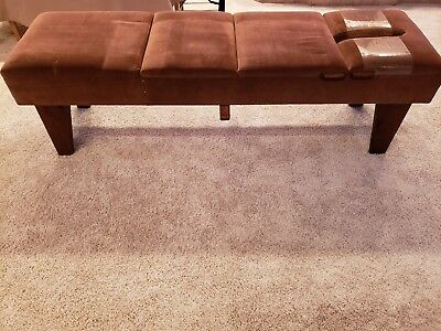 Chiropractic Bench Table with 3 Drop Pieces and Tension Knob, Custom Hand Made.