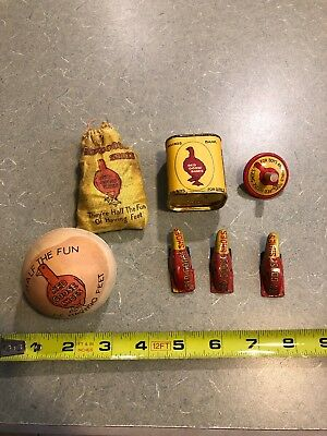 Vintage Lot Of Seven Red Goose Shoes Toys