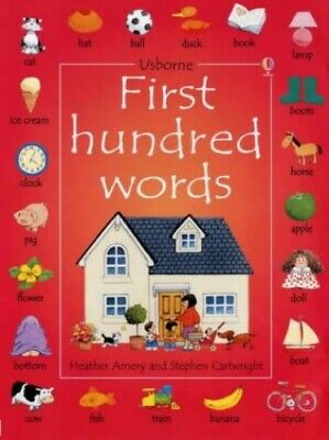 First 100 Words (Usborne First Hundred Words) by Cartwright, Stephen Hardback