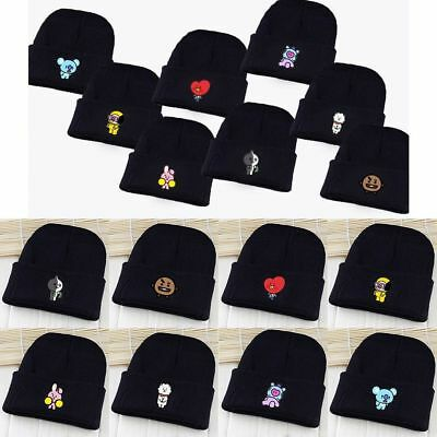 KPOP BTS BT21 Beanie Hat Bangtan Boys Knit Cap Love Yourself SHOOKY COOKY JUNG