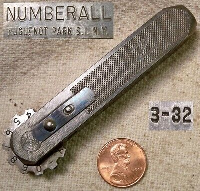 Numberall 3/32 Inch Rotating Number Stamp Good Shape Collectible Old Tool