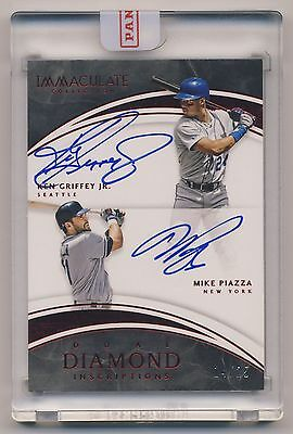 2016 Immaculate Diamond Inscriptions KEN GRIFFEY, JR MIKE PIAZZA AUTO /25 HOF