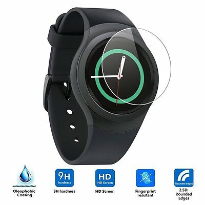 Samsung Gear S2 / S2 Classic Smart Watch Tempered Glass Screen Protector 9H N-a