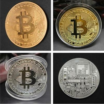 1pcs Gold Plated Bitcoin Coin Collectible Art Collection Gift Physical commemora