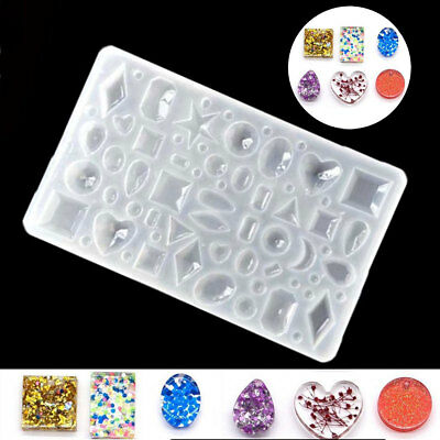 Silicone Mould Pendant Jewelry Making Necklace Mold Casting Craft DIY Resin Tool
