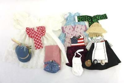 Lot of Vintage Handmade Doll Clothes Dress Hats All Sizes 17 Pieces