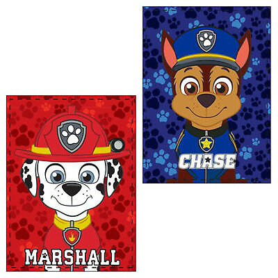 Paw Patrol Boys Kids Blanket Throw Warm Fluffy Coral Fleece Plush Marshall Chase