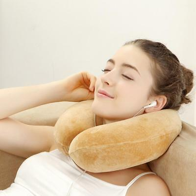 Portable Soft U Shaped Memory Foam Pillow Support Neck Head Office / Travel