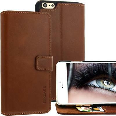 Per Iphone Apple 6 Plus Custodia Cellulare in Vera pelle / Case - Braun di