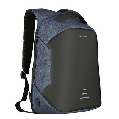 Mens Anti-Theft Backpack Laptop School Travel Outside Bag USB Charging Rucksack