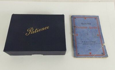 Antique Miniature Patience Games With Rule Book, made by WD & HO Wills 1933