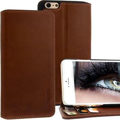 Exxcase Custodia in pelle per Iphone Apple 6 Plus Marrone Cellulare Smartphone