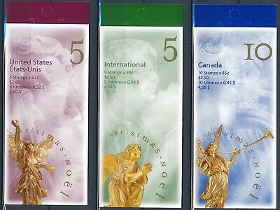 [H15168] Canada 1998 CHRISTMAS Good set of 3 complete booklets very fine MNH
