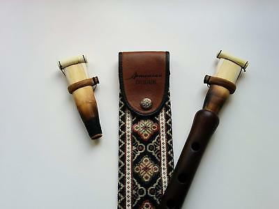 Armenian DUDUK PRO, Musical Instrument from Apricot Wood, 2 Reed, Taraz Case