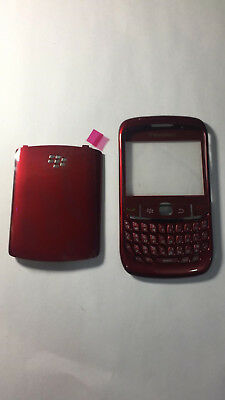 Housing Casing Front And Back Keypad For Blackberry 8520 9300 Curve Red