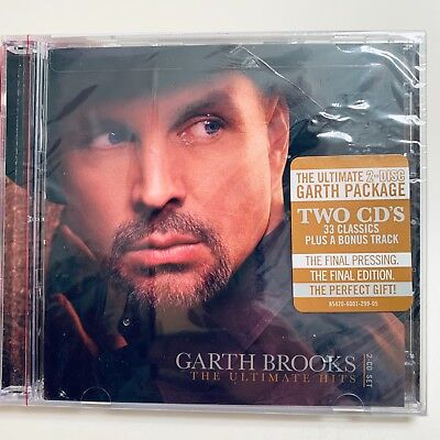 Garth Brooks The Ultimate Hits Greatest Hits 2 CDs Set - NEW - Cracked Case