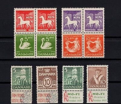 P99062/ Denmark / Varieties / Lot 1933 - 1936 Neuf **/* / Mint Mnh / Mh