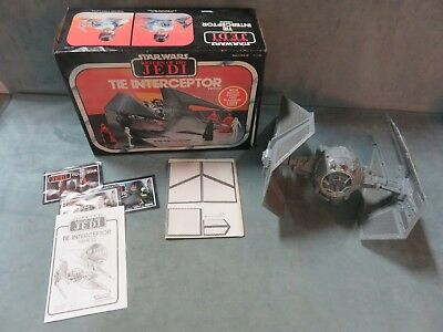 Vintage Star Wars Tie Interceptor Vehicle with Box WORKS! ROTJ 1983