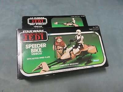 Vintage Star Wars Tie Speeder Bike Vehicle with Box Sealed ROTJ 1983