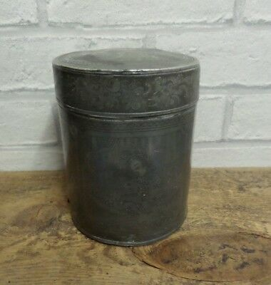 Original Antique Chinese Pewter Tea Caddy With Makers Name On The Base