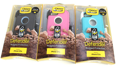 Authentic OtterBox Defender Series Case w/Belt Clip For Apple iPhone 5/5S/SE