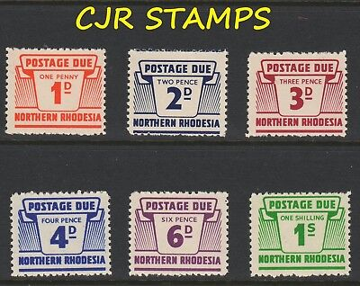 Northern Rhodesia  1963  Postage Due Set Of 6 (Sg D5 - D10)  -    Fine   Nh Mint