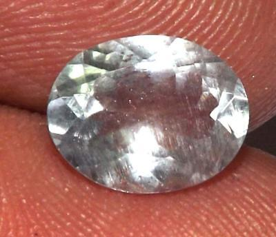 1.55 ct Natural Earth Mined Goshenite Aquamarine Bery 9 x 7 mm Gem #bgo820