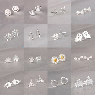 Multi Style Fashion New Jewelry 925 Silver Sterling Woman Mini Stud Earring Gift