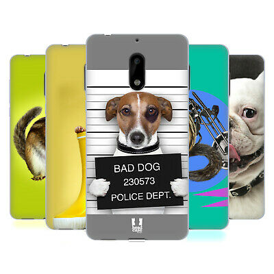 Head Case Designs Funny Animals Soft Gel Case For Nokia Phones 1
