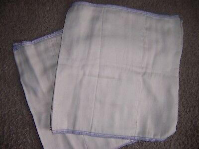 OSOCoZY 4  prefold  cloth diaper lot arpox 12 in by 12  inch