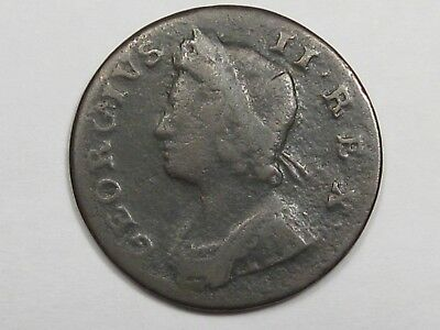 1739 Great Britain Half Penny. King George II.  #37