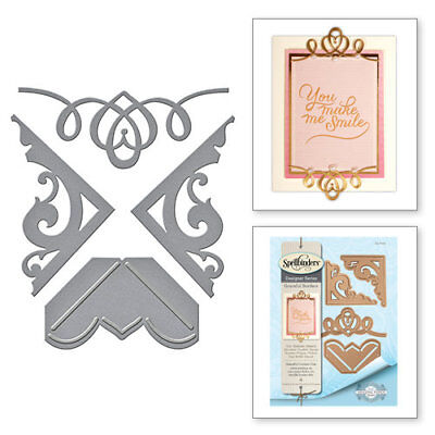 Spellbinders - Graceful Borders Collection - Die - Graceful Corners One  - £3.45