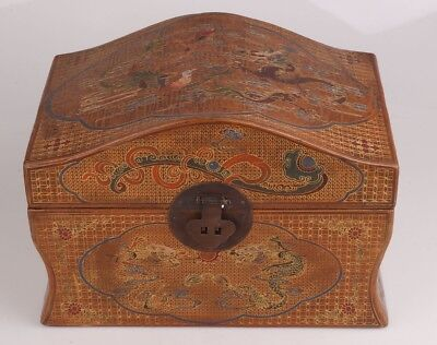 Pure Hand Painting Rare Super Large Lacquer Old Jewelry Box Royal Kangxi Style
