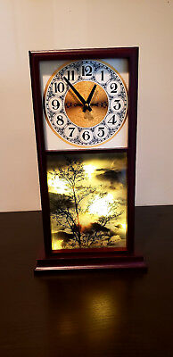 Antique Clock with lights behind the picture - Wood Works CLOCK CASE parts