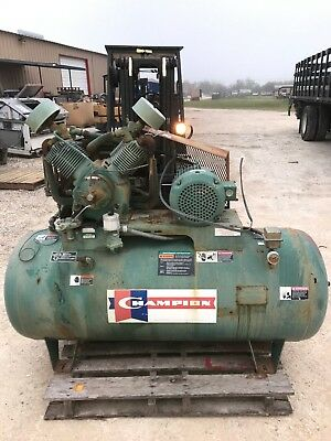 Champion Hr10-12 Reciprocating Air Compressor 120 Gallon Horizontal 60Hz 10Hp