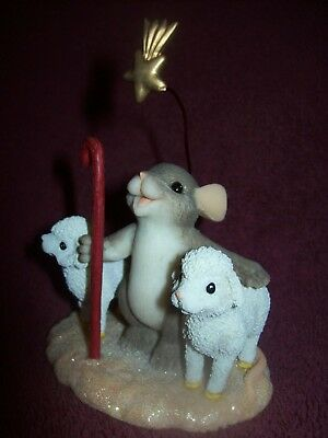Charming Tails - I WILL ALWAYS WATCH OVER YOU - Figurine by Fitz and Floyd - EUC