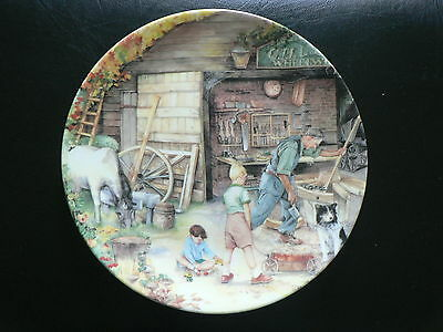 Royal Doulton Collector Plate, The Wheelwright, Old Country Crafts