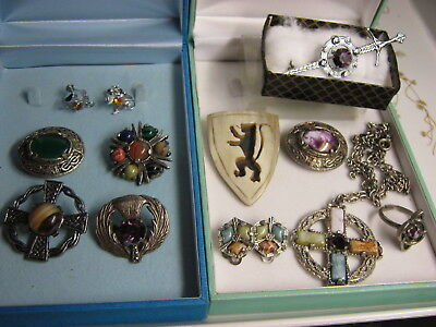 Large Job Lot Of Vintage Celtic Scottish Jewellery Miracle, Mizpah  Brooch ,ring