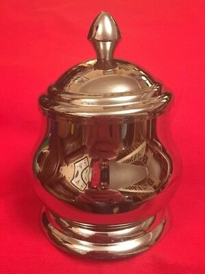 Vintage Style Stainless Steel Sugar Bowl