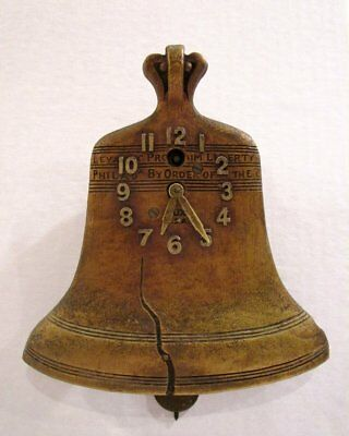 RARE SUPER NICE VINTAGE 1930's LUX LIBERTY BELL PENDULETTE CLOCK WORKING W/ KEY