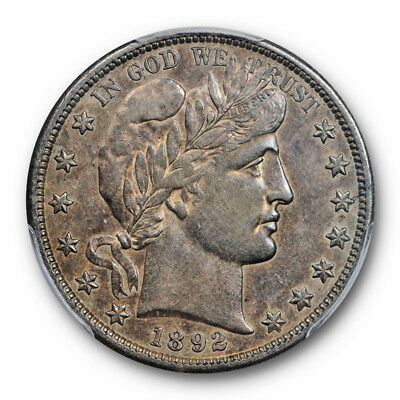 1892 S 50C Barber Half Dollar PCGS AU 50 About Uncirculated Key Date