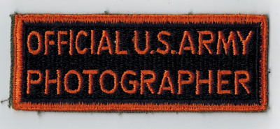 WW2 Official US Army Photographer Uniform Patch Cut Edge WWll News Original QQ