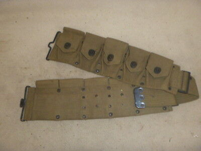 Nice Ww 1 Unworn Us Army Dismounted M-1910 Cartridge Belt By Mills 1918 Date