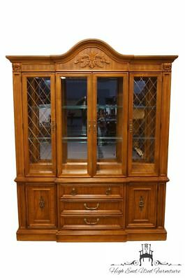 "STANLEY FURNITURE Italian Tuscan Style 70"" Lighted Display China Cabinet 767-..."