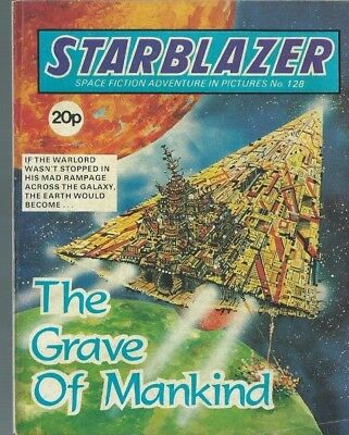 The Grave Of Mankind,starblazer Space Fiction Adventure In Pictures,comic,no.128