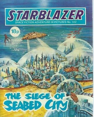 The Siege Of Seabed City,starblazer Space Fiction Adventure,comic,no.102