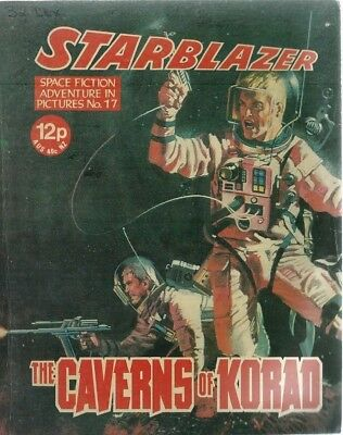 The Caverns Of Korad,starblazer Space Fiction Adventure In Pictures,comic,no.17